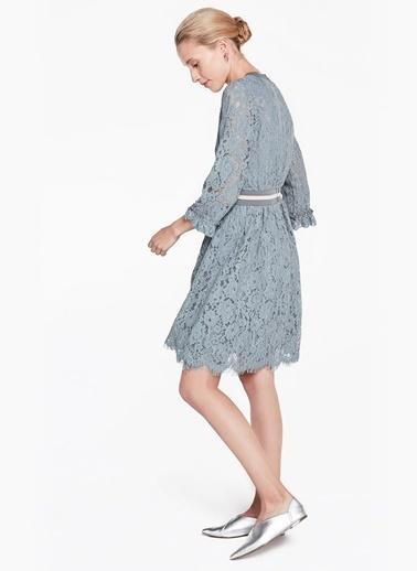 Dantelli Kısa Elbise-Twist